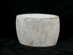 Pot taup/white 30 cm
