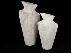 Pot taup/white 50 cm