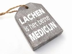 Hanger label taup Lachen