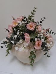 Bloemen op theekannetje mogen maken (Voorbeeld)